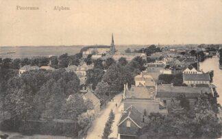 Ansichtkaart Alphen aan den Rijn Panorama R.K. en Gereformeerde Kerk 1915 HC8015
