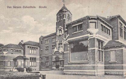 Ansichtkaart Gouda Van Iterson Ziekenhuis bij de Krugerlaan 1927 Gompers HC8095