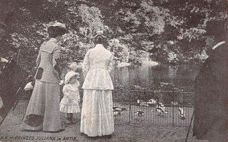Ansichtkaart Amsterdam 1911 H.K.H. Julina in Artis bij de eenden Dierentuin Zoo Koningshuis HC8103