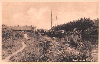 Ansichtkaart Dordrecht Werkendam Kanaal naar de Biesbosch Binnenvaart schepen Scheepvaart HC8109