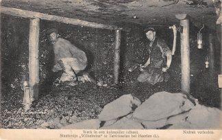 Ansichtkaart Terwinselen bij Heerlen Staatsmijn Wilhelmina Werken in een kolenpijler (afban) Mijnen HC8111
