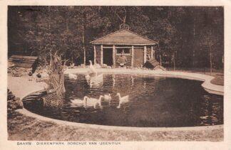Ansichtkaart Baarn Dieren park Boschje van IJsendijk met ganzen 1935 HC8115