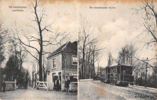 Ansichtkaart Rotterdam Tol De bontenpaal voorheen De bontenpaal thans Stoomtram Paard en wagen Tram HC8140