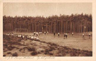 Ansichtkaart Hulshorst N.J.V. Kamp Hulshorst Op het speelveld Korfbal 1930 Harderwijk Veluwe HC8142