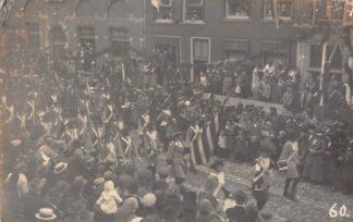 Ansichtkaart Leiden Fotokaart Optocht 1927 Militair HC8143