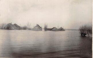 Ansichtkaart Reeuwijk 1926 Overstroming Polders Broekvelden en Vettenbroek Bij Gouda Fotokaart HC8146