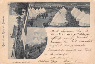 Ansichtkaart Oldebroek 1899 Groet uit het Kamp Militair HC8147