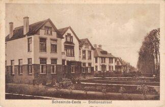 Ansichtkaart Scheemda Eexta Stationsstraat 1928 Oldambt HC8163