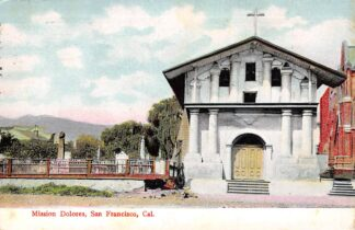 Ansichtkaart San Francisco California Mission Dolores Noord-Amerika USA 1909 HC8176