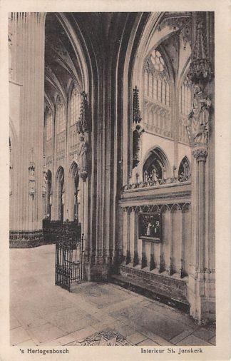 Ansichtkaart 's-Hertogenbosch Interieur St. Janskerk 1922 HC8195