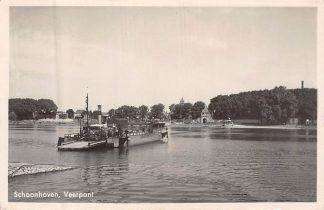 Ansichtkaart Gouda Schoonhoven Veerpont Schoonhoven 2 vanaf Gelkenes Veer Pont Binnenvaart Scheepvaart 1942 HC8211