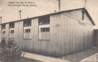 Ansichtkaart Gouda Vluchtelingen-Kamp der Belgen Graaf Florisweg Kapel van den H. Petrus 1914-1918 WO1 België HC8213