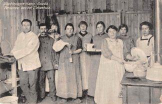 Ansichtkaart Gouda Vluchtelingen-Kamp der Belgen Graaf Florisweg Personeel van het Ziekenhuis 1914-1918 WO1 België HC8214
