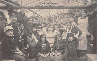 Ansichtkaart Gouda Vluchtelingen-Kamp der Belgen Aardappel-jassen 1914-1918 Graaf Florisweg WO1 België Militair HC8221