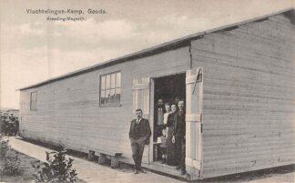Ansichtkaart Gouda Vluchtelingen-Kamp der Belgen Kleeding-Magazijn Graaf Florisweg 1914-1918 WO1 België HC8222