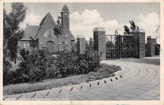 Ansichtkaart Woerden Algemeene Begraafplaats met Aula 1940 Kerkhof HC8224