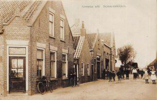 Ansichtkaart Groete uit Scharendijke Fotokaart 1911 Schouwen-Duiveland Zeeland HC8230