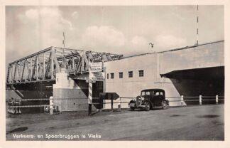 Ansichtkaart Vlake Verkeers- en Spoorbruggen Auto 1949 Reimerswaal Zuid-Beveland Spoorwegen HC8234