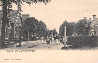 Ansichtkaart Surhuisterveen Groeten uit met volk Achtkarspelen Friesland HC8270