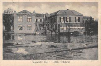 Ansichtkaart Lobith Lobith-Tolkamer Hoogwater in de Rijn 1920 HC8274