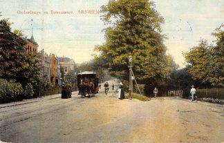 Ansichtkaart Arnhem Paardentram Onderlangs en Bovenover 1913 Tram HC8299