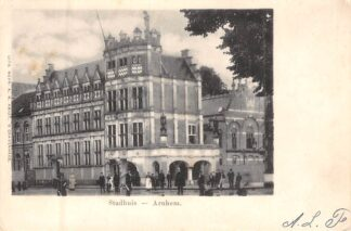 Ansichtkaart Arnhem Stadhuis 1902 Kleinrond stempel Maasland 1902 HC8308