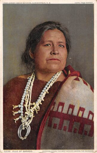 Ansichtkaart USA Elle of Ganado Acknowledged thebest Indian weaver among the Navahos Indianen Verenigde Staten Noord-Amerika HC8318
