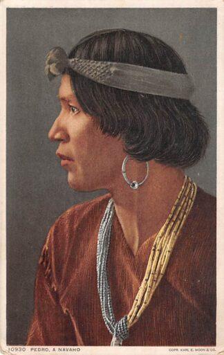 Ansichtkaart USA Indian Pedro a Navaho Indianen Verenigde Staten Noord-Amerika HC8319