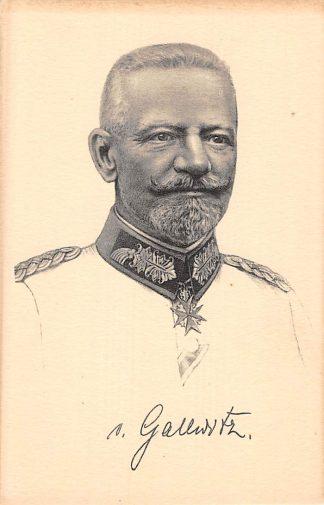 Ansichtkaart Duitsland General D. Art. von Galwitz Militair 1914-1918 WO1 Deutschland Europa HC8321