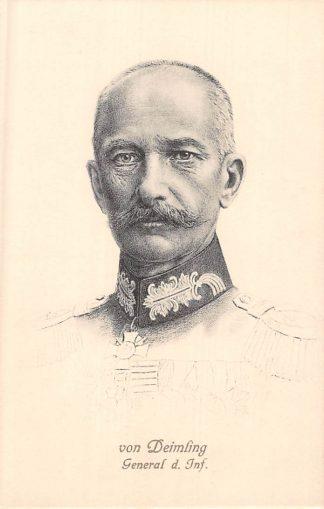 Ansichtkaart Duitsland General D. Inf. von Deimling Militair 1914-1929 WO1 Deutschland Europa HC8322