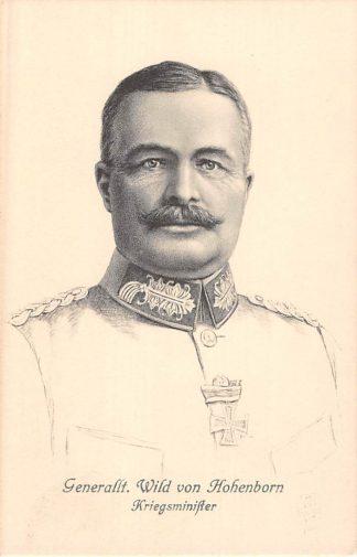 Ansichtkaart Duitsland Generalleutnant Wild von Hohenborn Kriegsminister Militair 1914-1918 WO1 Deutschland Europa HC8323