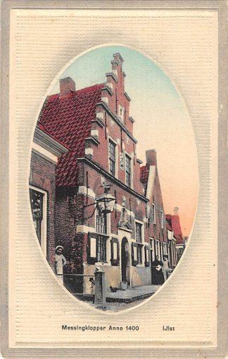 Ansichtkaart IJlst Messingklopper anno 1400 Reliëf kaart HC8347