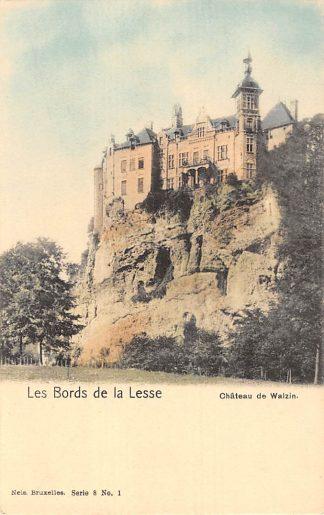 Ansichtkaart België Les Bords de la Lesse Chateau de Walzin Belgique Europa HC8349