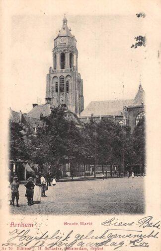 Ansichtkaart Arnhem Groote Markt 1902 HC8352