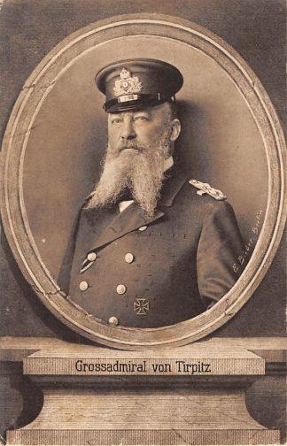 Ansichtkaart Duitsland Grossadmiral von Tirpitz Militair 1914-1918 WO1 Deutschland Europa HC8355