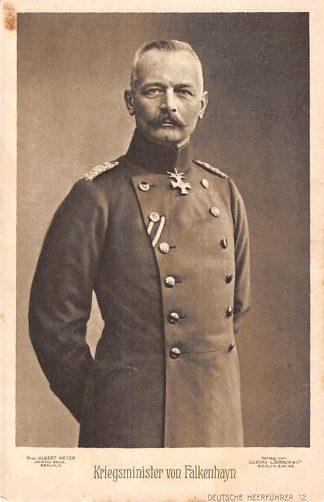Ansichtkaart Duitsland Kriegsminister von Falkenhayn Militair WO1 Deutschland Europa HC8360