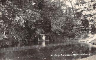 Ansichtkaart Arnhem Sonsbeek Kleine Waterval Newo fotokaart 1932 HC8408