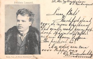 Ansichtkaart Amsterdam 1899 Naaml. Venn. De Nieuwe Muziekhandel Frederic Lamond Muziek HC8420