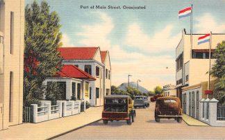 Ansichtkaart Nederlandse Antillen Aruba Port of Main Street Oranjestad Noord-Amerika 1949 HC8424