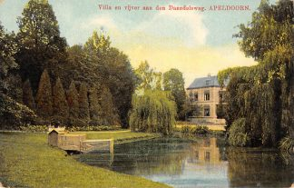 Ansichtkaart Apeldoorn Villa en vijver aan den Daendelsweg 1912 HC8427