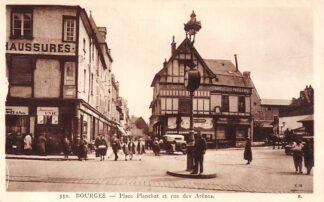 Ansichtkaart Frankrijk Bourges Place Planchat et rue des Arenes France Europa HC8429