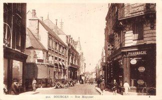 Ansichtkaart Frankrijk Bourges Rue Moyenne Auto France Europa HC8430