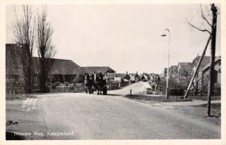 Ansichtkaart Kamperland Nieuwe Weg Paard en wagen 1951 Noord-Beveland HC8450