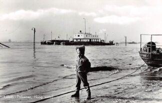 Ansichtkaart Lobith Tolkamer Hoog Water1964 Binnenvaart schepen Scheepvaart HC8458