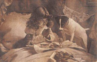 Ansichtkaart Fantasie Fanny en Mimi, afblijven hoor! Hond en kind Dieren 1908 HC8464