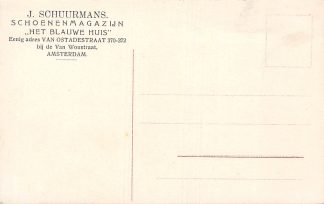 Ansichtkaart Amsterdam Reclame J. Schuurmans Schoenenmagazijn Het Blauwe Huis Van Ostadestraat 370-372 Duitsland Gruss aus Mehlis i. Th. Gothaerstrasse Deutschland Europa HC8469