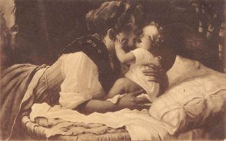 Ansichtkaart Fantasie Goeden morgen Lieveling Moeder en baby Kind 1909 HC8474