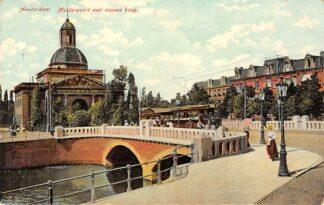 Ansichtkaart Amsterdam Muiderpoort met nieuwe brug en tram 1907 HC8486