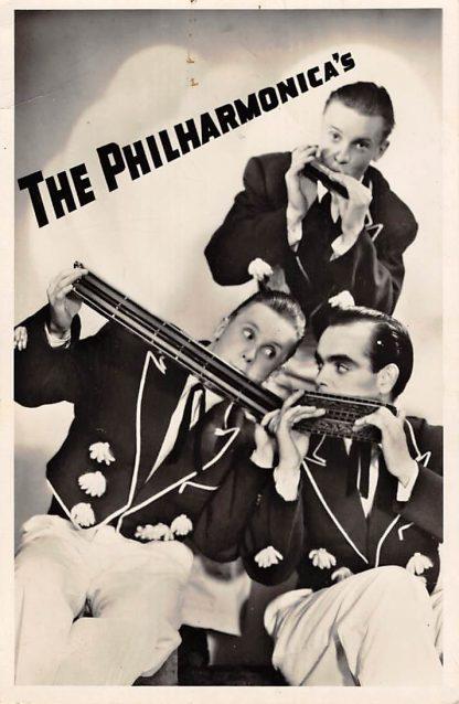 Ansichtkaart Amsterdam The Philharmonica's Mond harmonica Trio Koekoekstraat 28-1 1954 Muziek HC8500