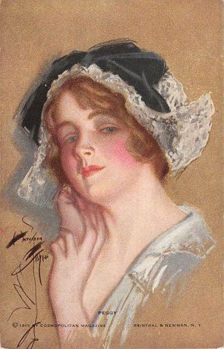Ansichtkaart Fantasie Peggy Illustrator Harrison Fisher 1915 HC8524
